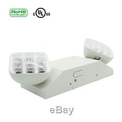 Indoor LED Emergency Exit Light Lamp Lighting Fixture Two Square Heads Universal