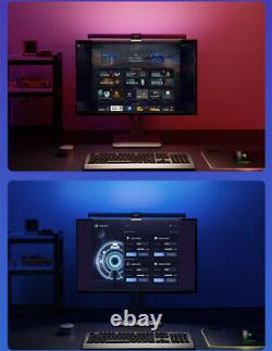 RGB Display Hanging Light Desk Lamp Foldable Eyes Protection Reading Dimmable
