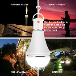 Rechargeable Emergency LED Bulb Light Battery Operated Camping Tent Lamp 4Pcs