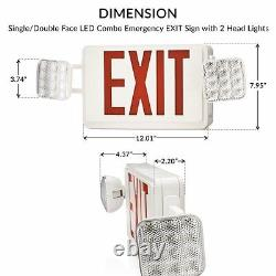 Sunco 10 Pack EMERGENCY EXIT SIGN Single/Double Face LED with 2 Head Lights UL