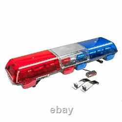 Wolo 7715-BR LED Emergency Warning Light Bar Red & Blue Lens, Roof Mount