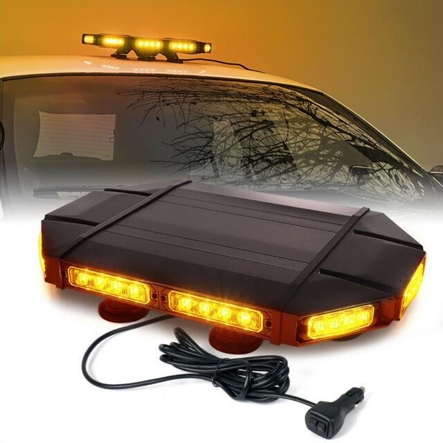 Xprite 18 Inch Led Strobe Light Bar Amber/yellow Rooftop Emergency Warning Truck