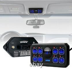 Xprite 8 Gang Switch Panel Rock Light Control System Voltage Display Universal